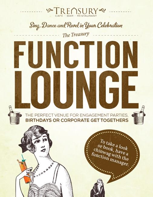The Treasury Function Lounge for Hire