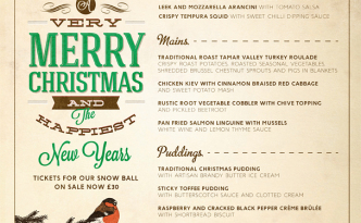 The Treasury Christmas Menu 2014
