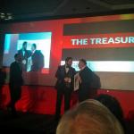 The Treasury Team Receiving Award