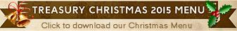 The Treasury Christmas Menu 2015